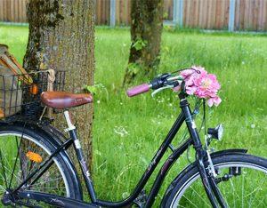 Bewegung durch Fahrrad fahren