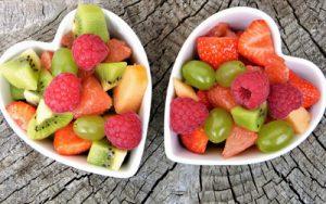 Herz aus Obst